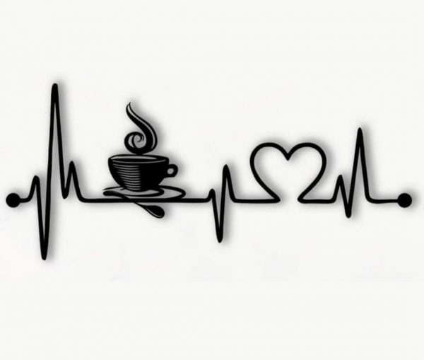 макет пульс люблю кофе