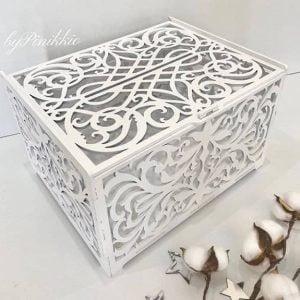 макет резной свадебной коробки