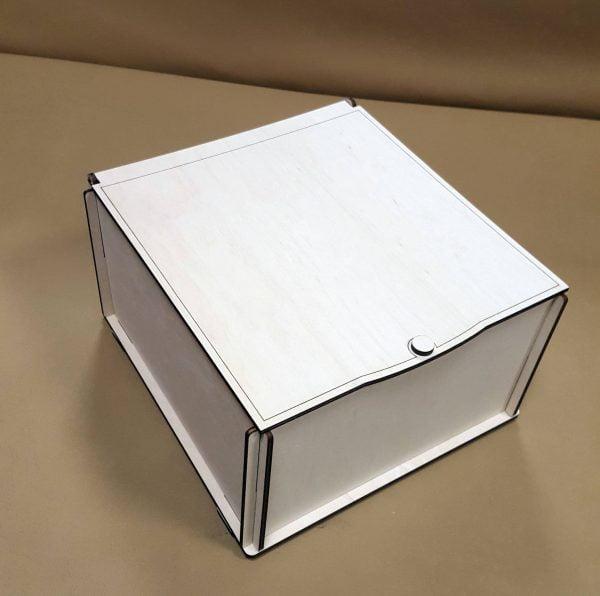 прямоугольная коробка с крышкой файл для резки