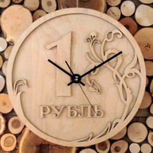 Часы рубль