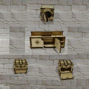 Макет кухонной мебели для кукол