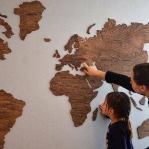 Макет карты мира