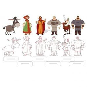 Макет героев мультфильма