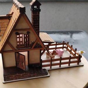 Макет средневекового домика
