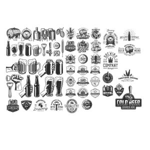 Набор пивных логотипов