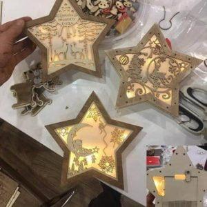 Ночник звезда макет