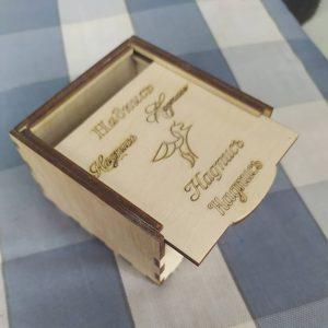 макет коробки с крышкой