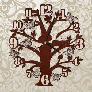 макет часов дерева
