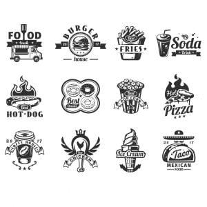 Векторные логотипы фастфуда