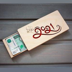 Макет подарочной коробки для денег