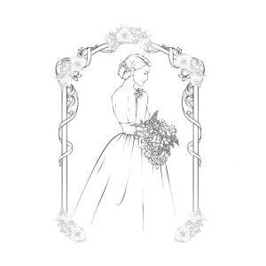 Векторный рисунок невесты