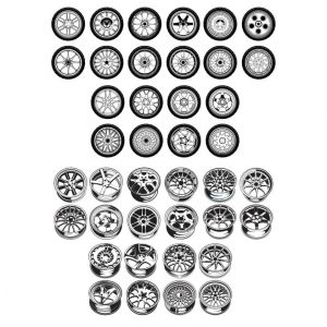 Макеты колес и дисков