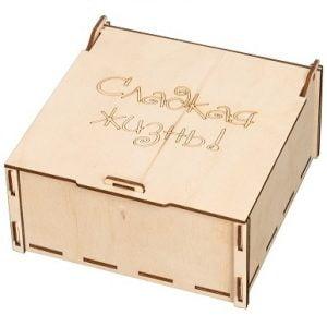 коробка с крышкой макет 2