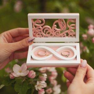Макет коробочки для свадебных колец