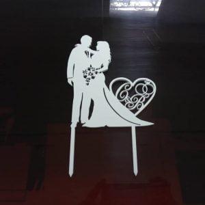 Макет свадебного топпера