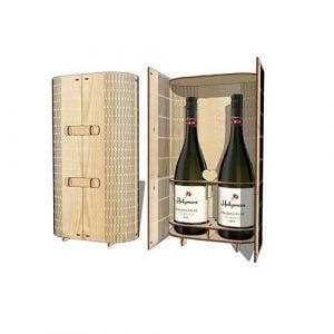 резная коробка под 2 бутылки