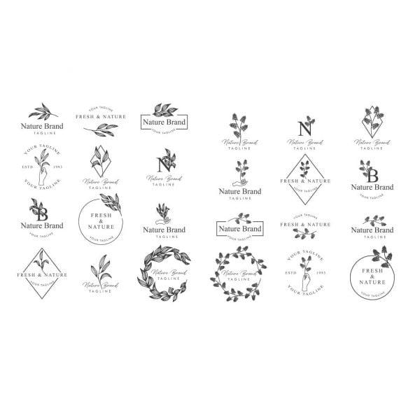 Цветочные логотипы