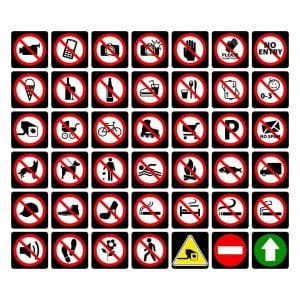 Векторный макет знаков