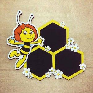 Макет фоторамки с пчелой