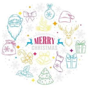 Рождественские рисунки в векторе