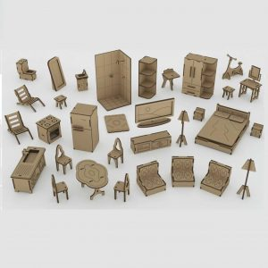 Макет набора мебели для кукол