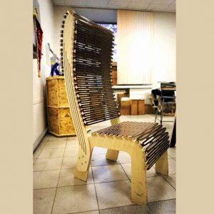 Макет резного стула