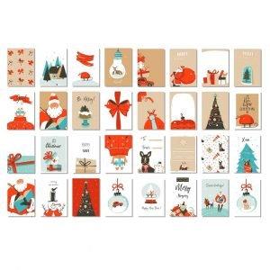 Набор рождественских и новогодних открыток