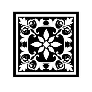 Векторный квадратный орнамент
