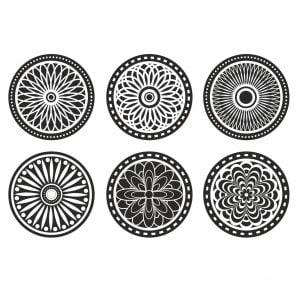 Векторный набор круглых орнаментов