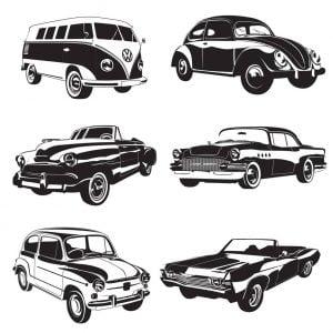 Векторные ретро автомобили