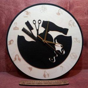 Макет часов для парикмахерской