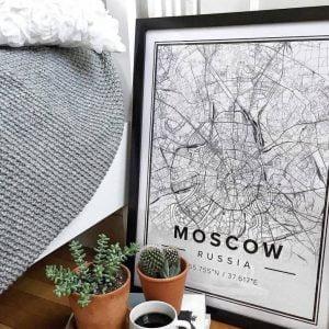 PDF файл карты Москвы