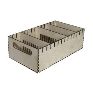 Макет ящика с отсеками