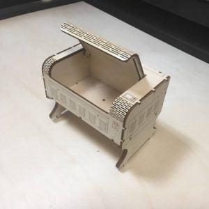 Макет визитницы лазерного станка