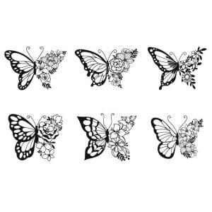 Векторный рисунок бабочки