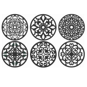 Векторный круглый орнамент