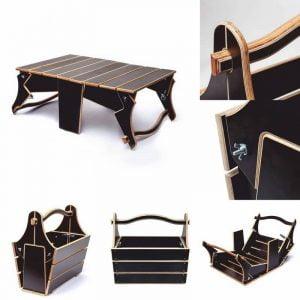 Макет переносного стола для пикника