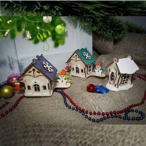 Макет рождественских домиков