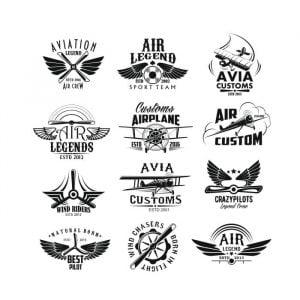 Векторные авиационные логотипы
