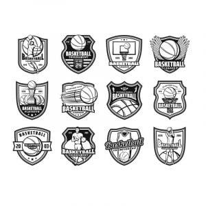 Векторные баскетбольные логотипы