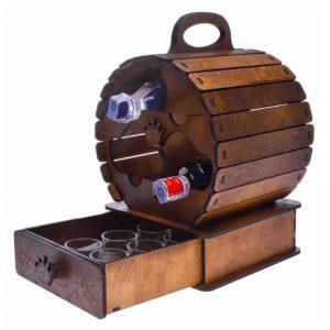 Макет мини бара бочки
