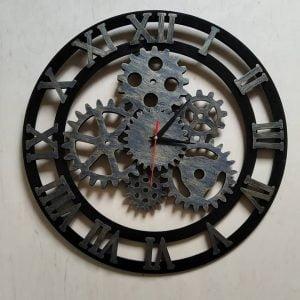 Макет часов с шестерёнками