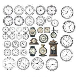 Циферблаты часов в векторе