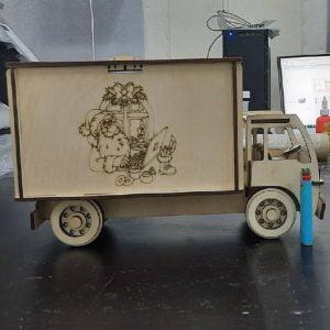 Макет коробки грузовика