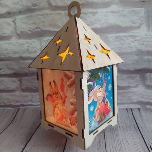 Макет новогоднего фонарика