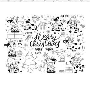 Векторные рисунки Рождество
