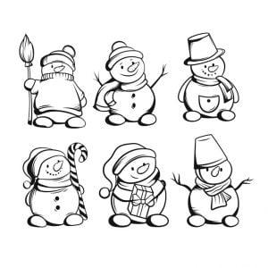 Снеговик в векторе