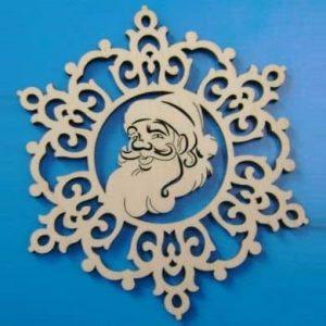 Макет снежинки с Дедом Морозом