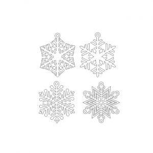 Макет подвесных снежинок