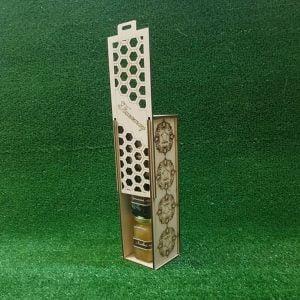 Макет резной коробки под бутылку